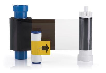 Magicard EN6 Black Monochrome Printer Ribbon with Overlay MA600KO