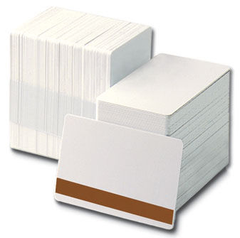 Blank White PVC Plastic ID Cards CR80