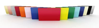 Blank PVC CR80 Coloured Cards