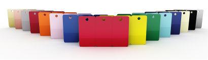 Blank PVC CR80 3 Tag Coloured Cards