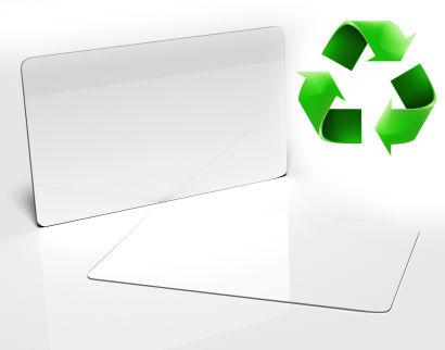 Blank White Biodegradable PVC Card