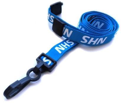 Blue Printed NHS Value Soft Neck Strap Lanyard