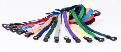 10MM Lanyards With Breakaway Clip & Plastic J-Clip