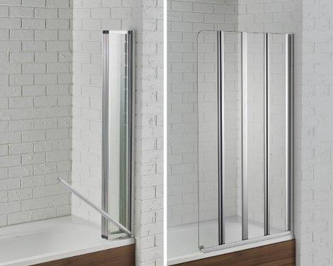 swiftseal semi-frameless 4 fold bath screen