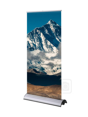 Everest Solvent Textured Roll-up Banner 215 Micron