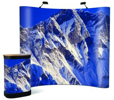 Lhotse Solvent Textured Pop-up Banner 310 Micron