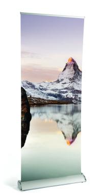 Matterhorn Solvent Textured Roll-up Banner 170 Micron