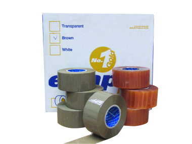 E-tape Gold Packaging Tape 50mm  *FREE DISPENSER WITH FIRST CARTON OF E-TAPE*