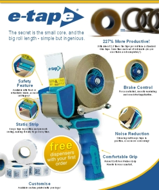 E-tape Packaging Tape Dispenser - *FREE DISPENSER WITH FIRST CARTON OF E-TAPE*