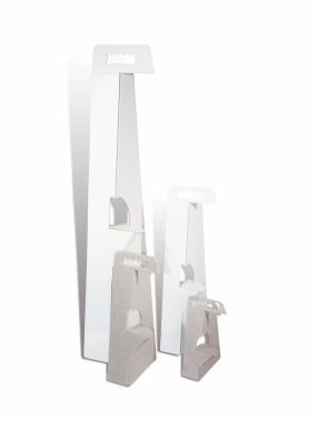 A-Line White Display Struts