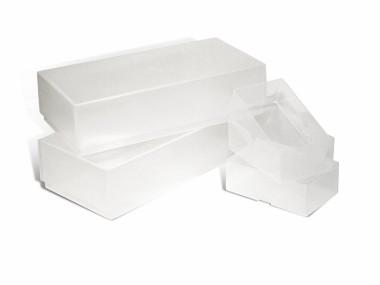 A-Line Business Card Boxes - Plastic Double Depth