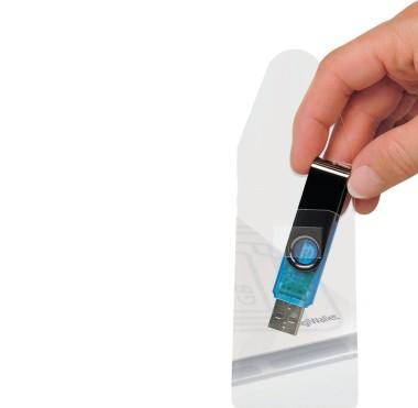 Self-Adhesive USB/Memory Card Pockets