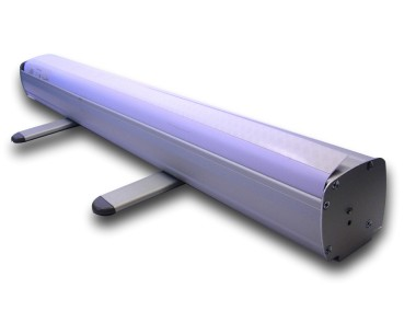 Panorama Rollup Banner Stands - Adhesive top rail