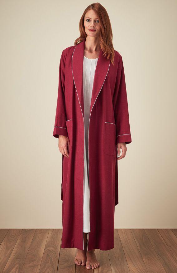 Ladies Tartan Dressing Gown Bonsoir