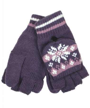 Ladies Patterned Fingerless Gloves