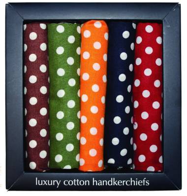 Cotton Polka Dot Handkerchiefs - Boxed Set