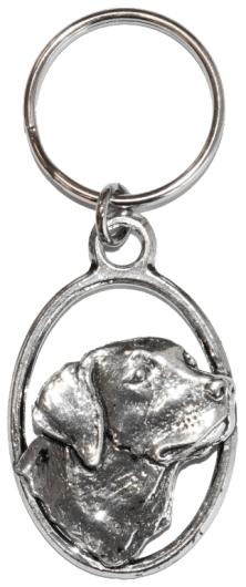Pewter Keyring - Labrador