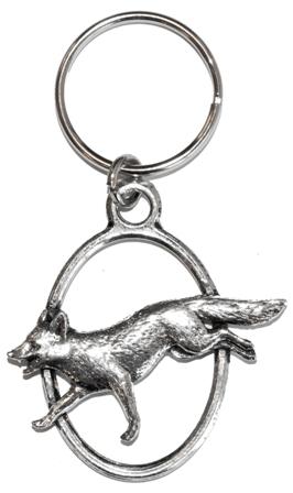 Pewter Keyring - Fox