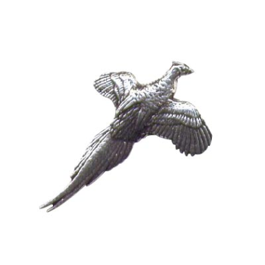 Pewter Pin Badge - Flying Pheasant