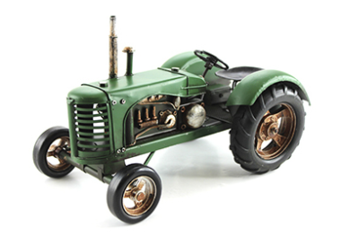 Green Tractor Tin Model