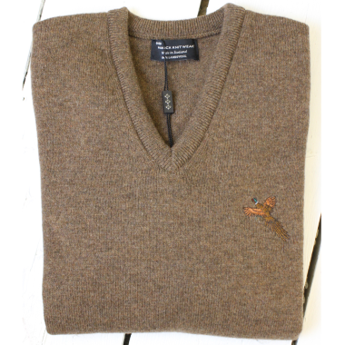 Hawick Knitwear Shooting Jumper with Pheasant - Small