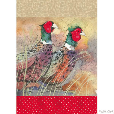 "Alex Clark ""Pleasant Pheasants"" Tea Towel"