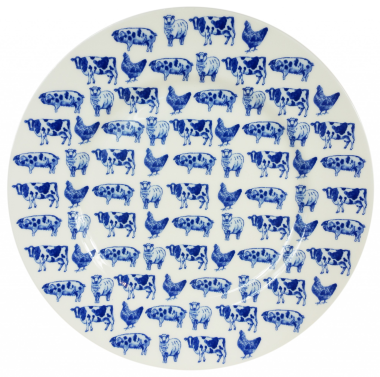 "Lucy Green Designs - Farm Animals 8.5"" Plate"
