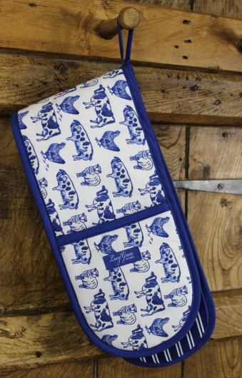Lucy Green Designs - Farm Life Double Oven Gloves