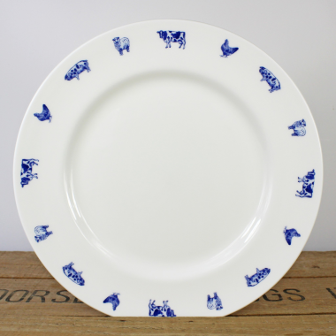 "Lucy Green Designs - Farm Animals 10.5"" Plate"