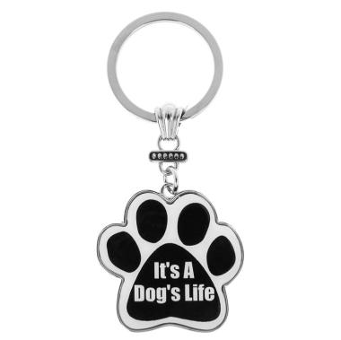 """Paw Print Keyring """"Dog's Life"""""""