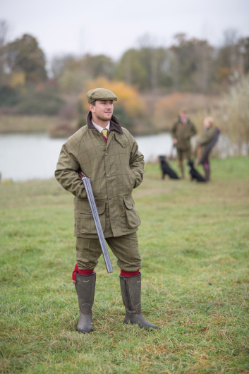 Alan Paine Rutland Tweed Waterproof Cap (Dark Moss)