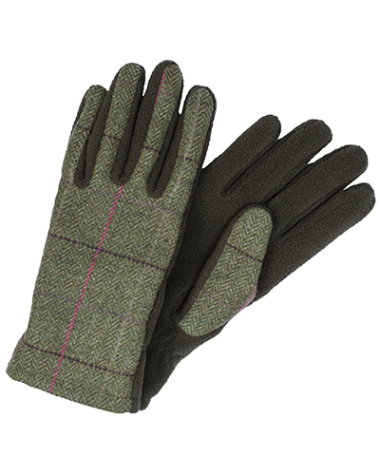 Hoggs of Fife Caledonia Ladies Tweed/Fleece Gloves