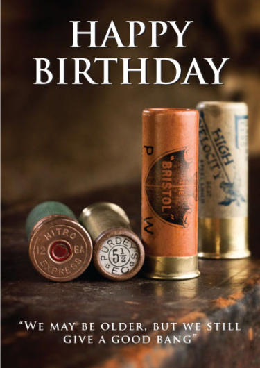Old Cartridges Happy Birthday Card