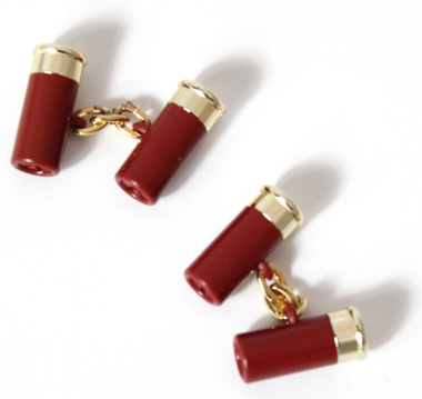 Cartridge Cufflinks - Red