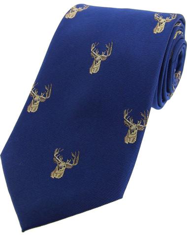 Woven Silk Tie - Stag Head