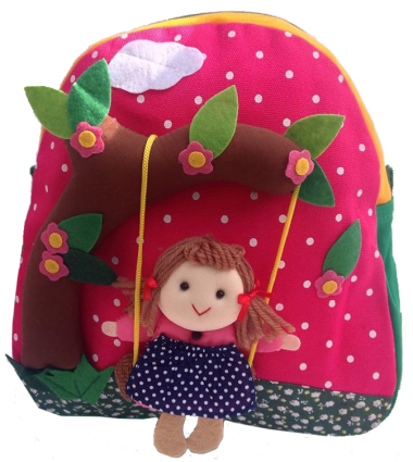 Girl On Swing Kiddies Backpack