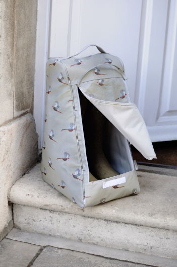 Sophie Allport Pheasant Oilcloth Boot Bag