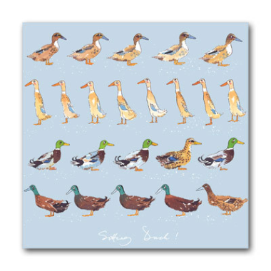 Sophie Allport Square Card - Sitting Duck