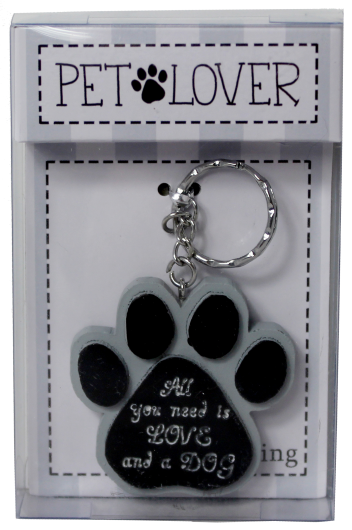Dog Lover Keyring - All You Need Is Love And A Dog