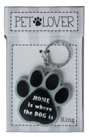Dog Lover Keyring - Home Is Where The Dog Is