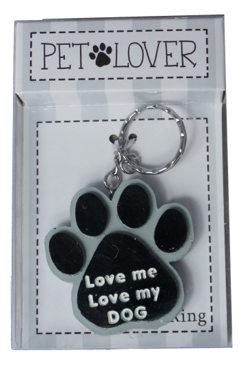 Dog Lover Keyring - Love Me Love My Dog