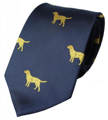 Golden Labrador Tie (Navy)