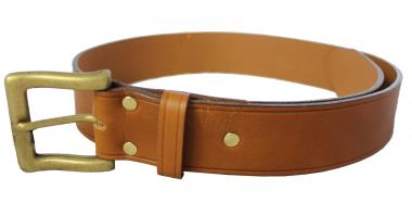 Men's Plain Leather Belt