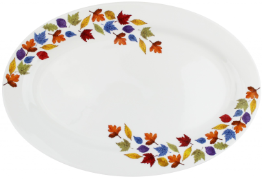 Lucy Green Designs - Falling Leaves Oval Plate