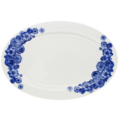 Lucy Green Designs - Floral Oval Plate