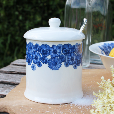 Lucy Green Designs - Floral Covered Sugar Pot