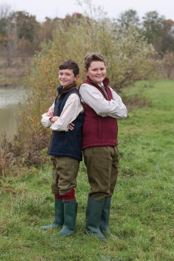 Alan Paine Aylsham Kids Fleece Waistcoat (Dark Navy)