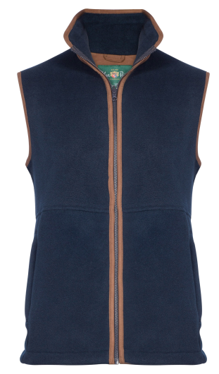 Alan Paine Aylsham Mens Fleece Waistcoat (Dark Navy)