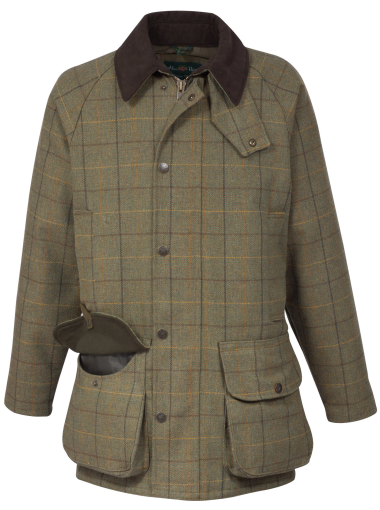 Alan Paine Rutland Kids Tweed Coat (Dark Moss)