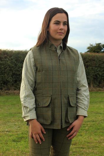 Alan Paine Rutland Kids Tweed Waistcoat (Lichen)